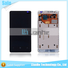100% Test For Nokia Lumia 800 N800 LCD Display + Touch Screen Digitizer + Frame Assembly