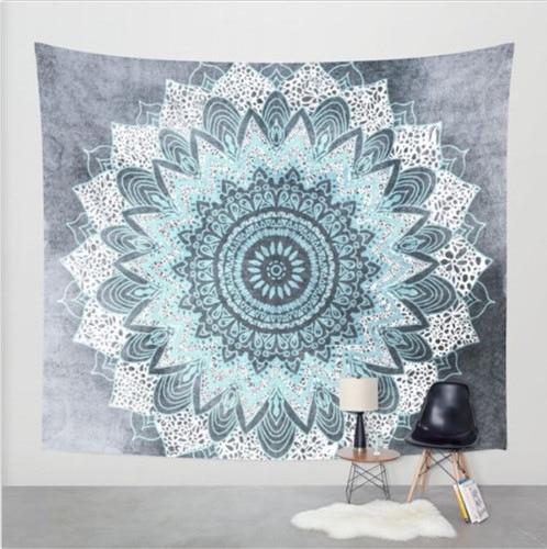 Indian Elephant Tapestry Aubusson Colored Printed Decor Mandala Religious Boho Wall Carpet Bohemia Beach Blanket Plus Size