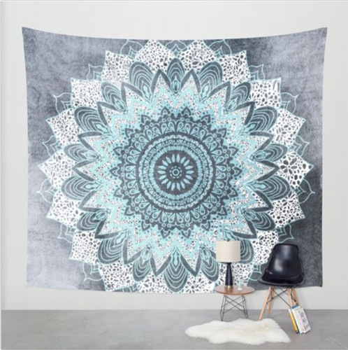 Indian Elephant Tapestry Aubusson Colored Printed Decor Mandala Religious Boho Wall Carpet Bohemia Beach Blanket Plus Size