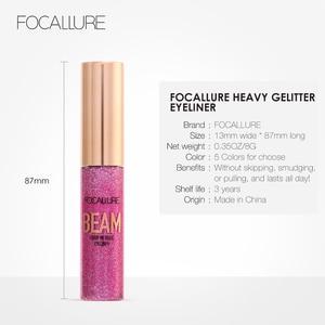 Image 5 - FOCALLURE 5 Colors Glitter Eyeliner Eyeshadow For Easy to Wear Waterproof Liquid Eyeliner Makeup Glitter Eye Liner