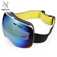 Bollfo doble capa permanente amplia visión anti-niebla protección UV gafas  de esquí esféricas grandes a967d833593d