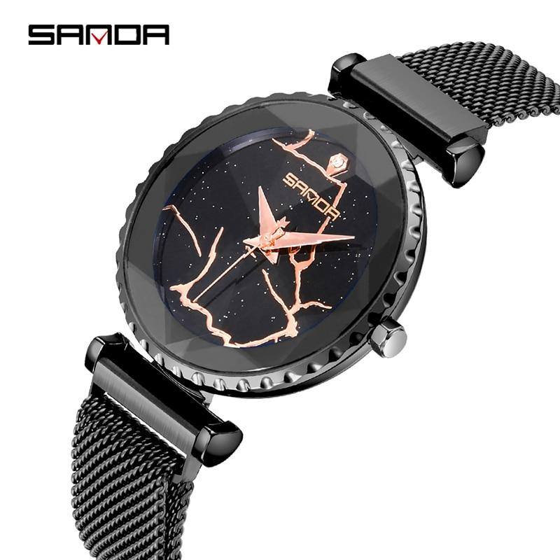 Сандалии Милан сетки сталь для женщин часы лучший бренд класса люкс новые женские часы для женщин кварцевые часы reloj mujer relogio feminino