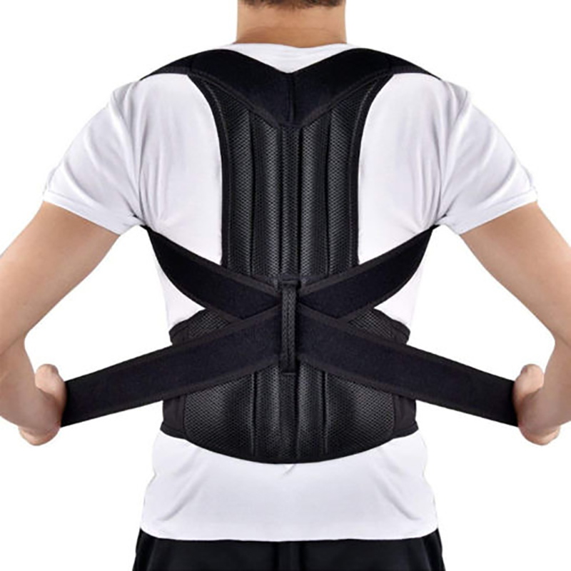 2019 Women Men Posture Corrector Belt Back Shoulder Support Belt Healthy Care Accessories Cummerbunds Solid New Hot