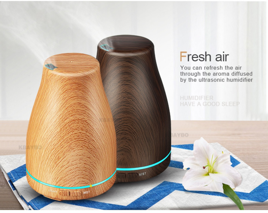 Ultrasonic Air Humidifier Essential Oil Diffuser Aroma Lamp Aromatherapy Electric Aroma Diffuser Mist Maker For Home