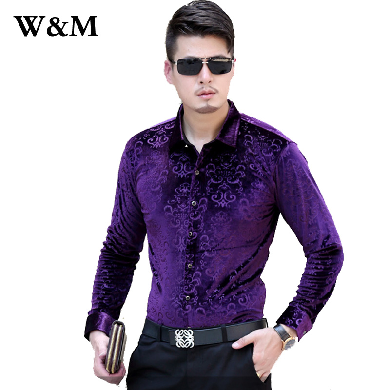 1f262f7bc5 Mens Dress Velvet Shirts French Cuff Business Casual Men Shirt Long Sleeve  2016 Autumn New Brand Chemise Homme Slim Fit Shirt-in Casual Shirts from  Men s ...