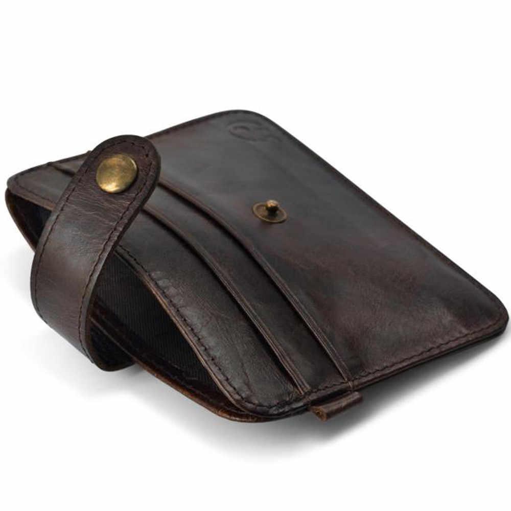 حار بيع الرجال الأعمال البسيطة محفظة عملة محفظة جلد خمر عملة ضئيلة محفظة id بطاقة الائتمان حامل مصغرة حالة المحفظة الفاصل الحقيبة