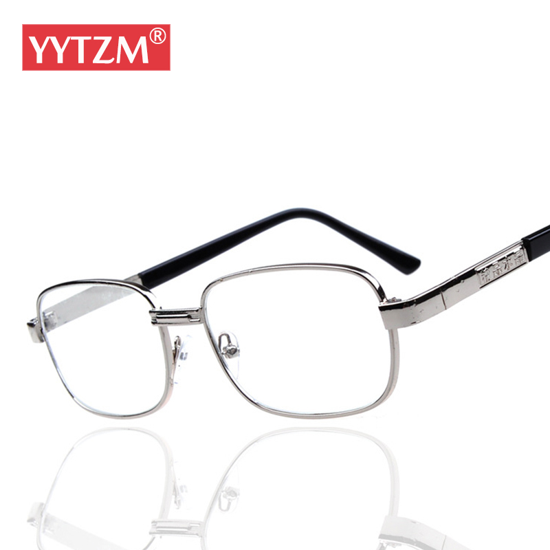 YYTZM Glasses Men Alloy Crystal Lenses Square Reading Glasses lying down Women's Fashion High Quality Computer gafas de lectura