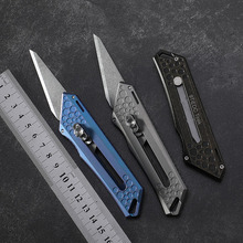 9TiEDC Original tactics pocket knife Titanium Handle 9CR18MOV stainless steel blade Pruning outdoor camping hunt knives EDC tool