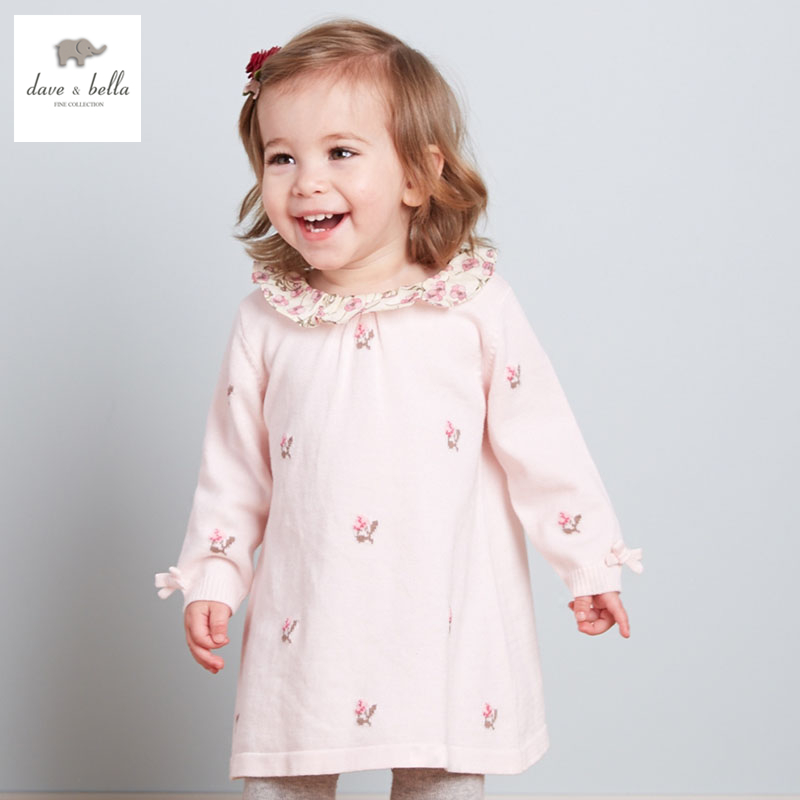 DB3132 dave bella autumn girls fairy dress toddler princess dress baby clothes infant dress baby baby dress db1553 dave bella summer baby dress infant clothes girls party dress fairy dress toddle 1 pc kid princess dress