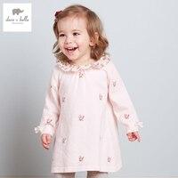 DB3132 Dave Bella 2015 Autumn Girls Fairy Dress Toddler Princess Dress Baby Clothes Infant Dress Baby
