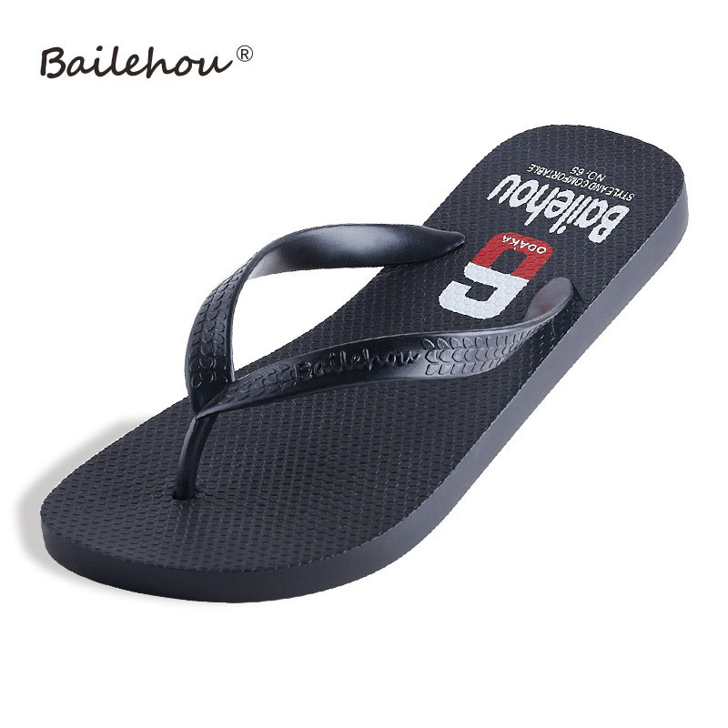 2017 New Summer Men Flip Flops Fashion High Quality Beach Sandals Shoes Non-slip Male Slippers Comfortable Men Casual Shoes summer leisure slippers slip on round toe comfortable sandals women flat sandals casual flip flops female shoes