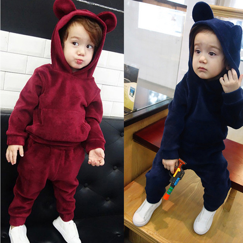 KEAIYOUHUO Children Clothing Boys Sets Winter Christmas Kids Clothes Toddler Girl Baby Boy Clothes Sets Cotton Girls Sport Suits baby boys girls sets 2018 winter t shirt pants cotton kids costume girl clothes suits for boy casual children clothing 3cs204