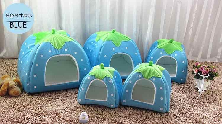 Camas do cão de morango design e forma girafa, casa de cama para animais de estimação, gato ninho para dormir e sala de estar