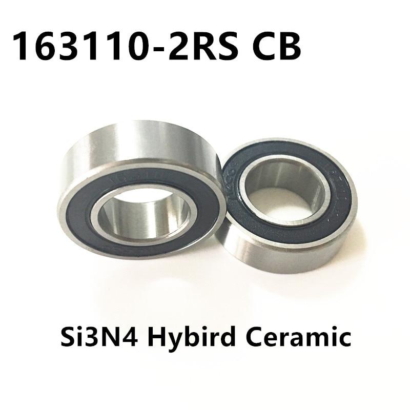 Free shipping 163110-2RS hybrid ceramic ball bearing 16x31x10mm 163110 2RS bike wheels bottom bracket repair bearing axk free shipping 1pcs 6901 2rs hybrid ceramic si3n4 ball 61901 ceramic bearing 12 24 6mm 6901 2rs