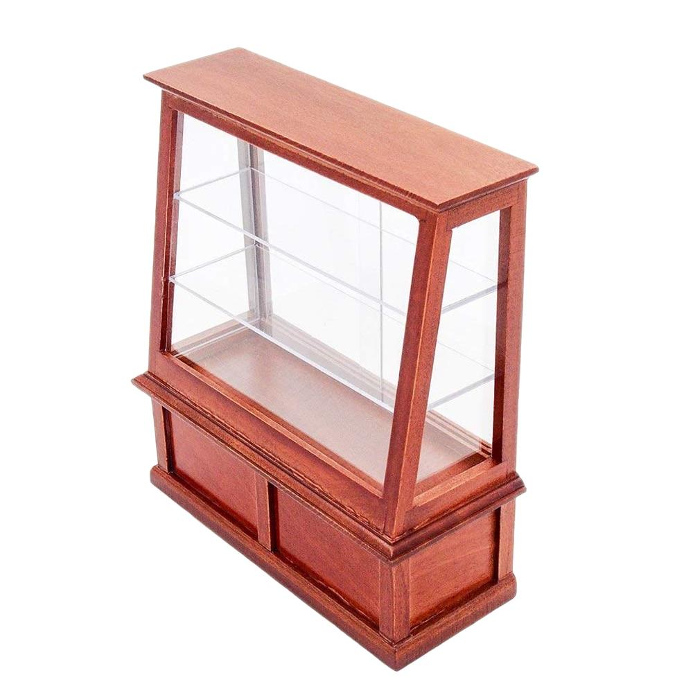 GroßZüGig Odoria 1:12 Miniatur Braun Holz Bäckerei Kuchen Lebensmittel Display Schrank Puppenhaus Möbel Zubehör Möbel Spielzeug Sammeln & Seltenes