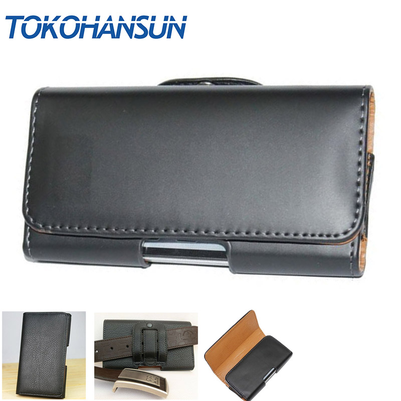 TOKOHANSUN For Samsung For Galaxy J7+ Dual SIM Phone Bag Mobile Cover Belt Clip Case Black Color PU Leather Pouch