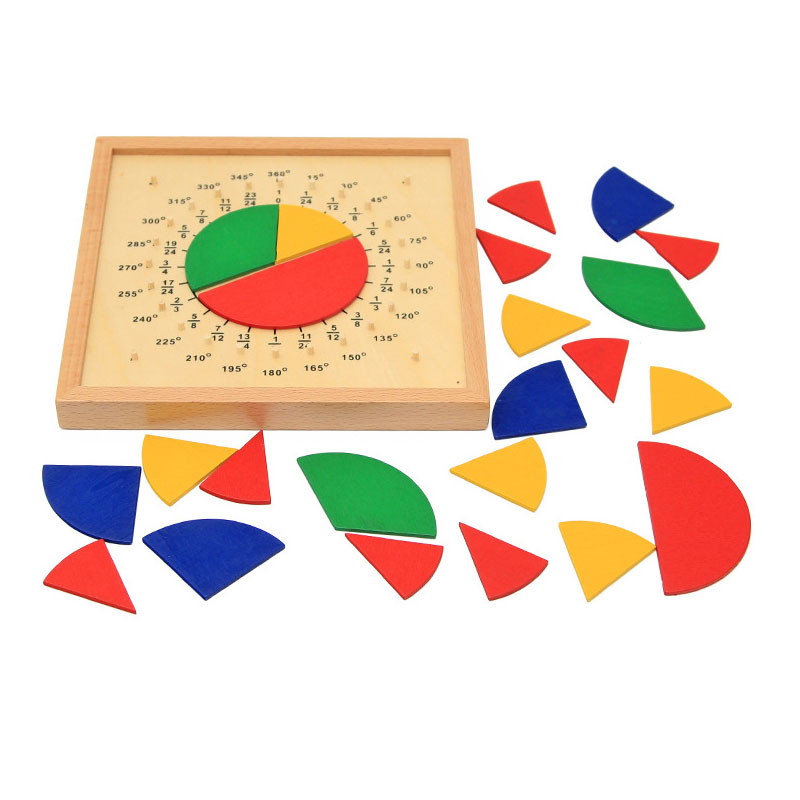 BOHS Wooden Mathematics Fraction Board Montessori Teaching Aids Math Education Toys in Math Toys from Toys Hobbies