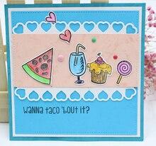 ZhuoAng delicious food metal cutting/DIY Paper Card Craft Embossing Die Cut DIY scrapbooking cutting machine
