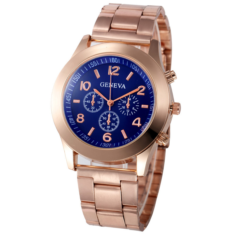 clock digital watch girl clasp type watches women round daniel wellington watches women Stainless Steel Z1213 5Down