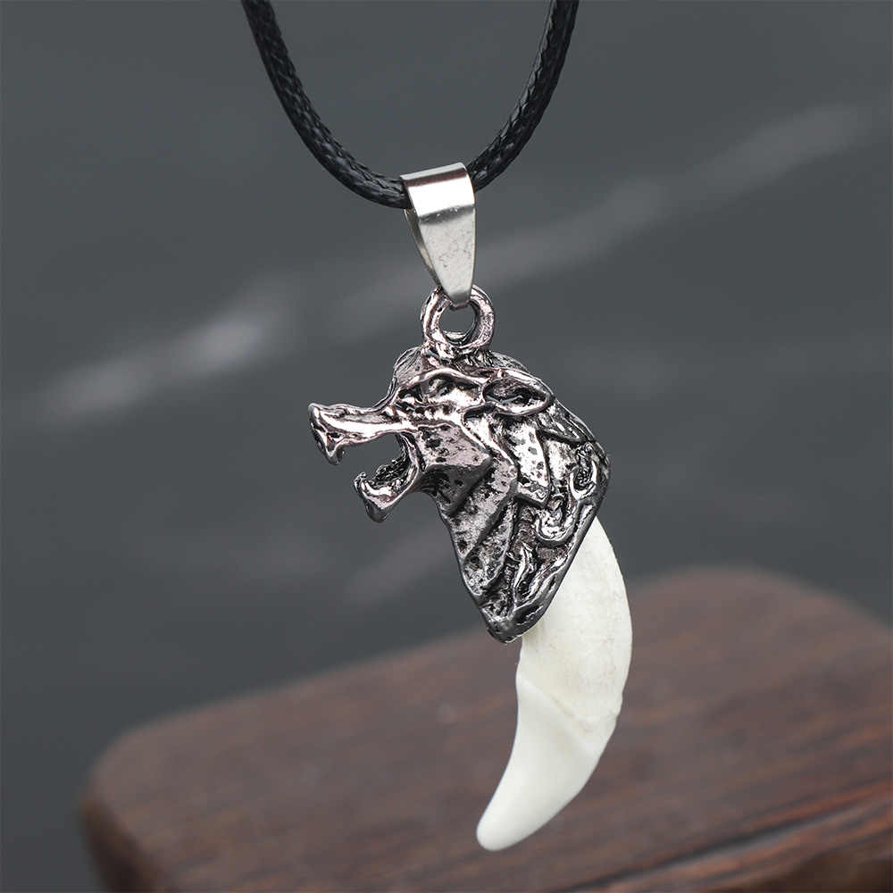 Brave Man Wolf Tooth Necklace Titanium Steel Domineering Pendant Fashion Jewelry for men