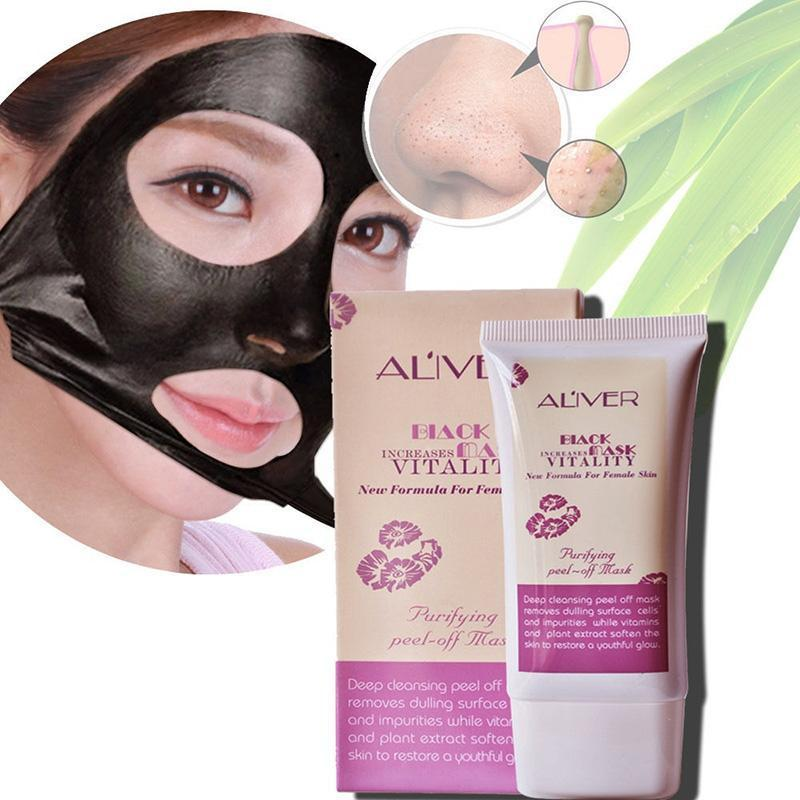 ALIVER 300PCS Charcoal Activated Black Mask Blackhead Spot Remover Peel-Off Facial Face Mask For Women FREE SHIPPING BY DHL cucnzn peel off pore cleanser blackhead remover mask