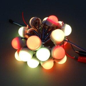 Image 2 - 20 Pz/lotto DC12V WS2811 30 Millimetri Diffuso Led Modulo Del Pixel di Colore Completo di 3 Led 5050 Rgb Ha Condotto La Stringa di Lampada D30 moduli IP68 0.72 W/pz