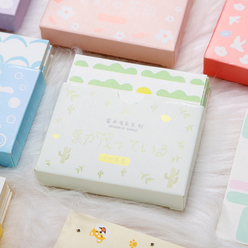 48Sheets Cute Dogs Frog Kraft Paper Note Pads Memo Pad Card Creative Korean Stationery Office School Supplies For Kids Gift