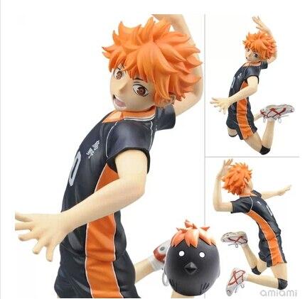 Anime Cartoon Haikyuu!! Hinata Syouyou 1/8 Scale PVC Action Figure Collectible Toy 17CM anime haikyuu cosplay hinata syouyou cos student canvas men and women backpack