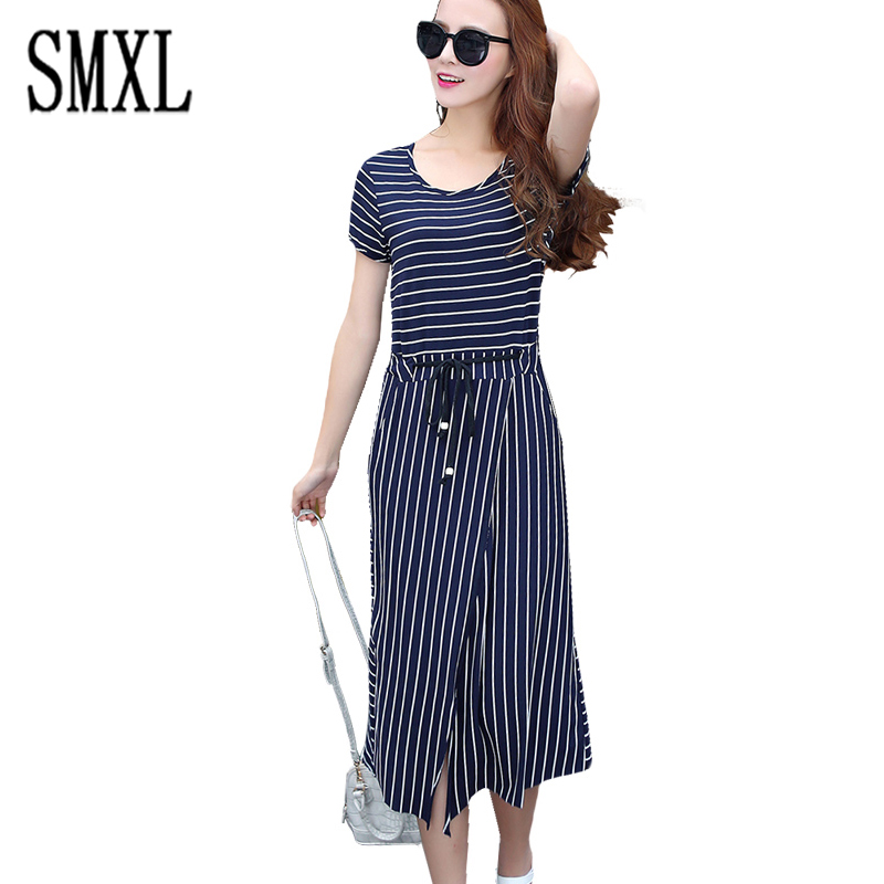 smxl Fashion Women dress long Casual Summer Party Dresses ...