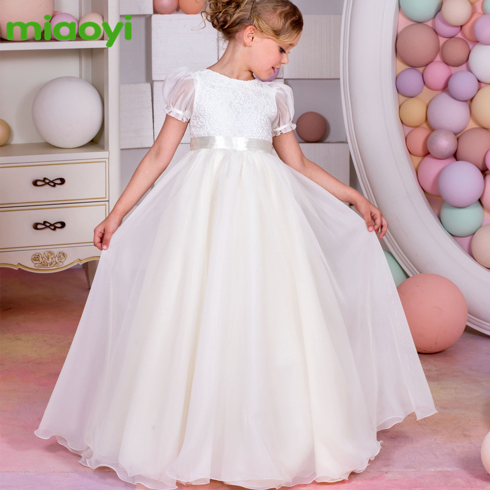 ФОТО New Europe and the United States chiffon bubble sleeves lace bow tie with girls wedding girl dress high quality