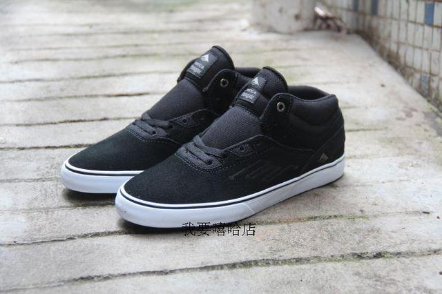 US Size 10.5/11 Emerica New SKATEBOARDING SHOES Footwear Reynolds Shoes Black Anti-Fur Hard-Wearing Shoes FOR SKATEBOARDING BOY