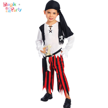 Halloween cosplay masquerade party child costume child pirate jack male