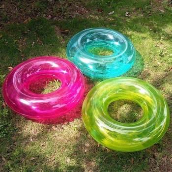 Transparent gonflable enfant jouet eau jouer plage jouet Swam enfants flotteur gonflable cygne anneau été vacances eau Fun piscine jouets