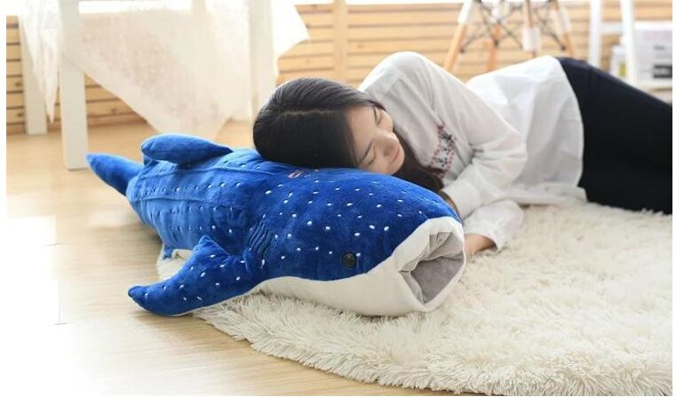 stuffed plush toy large 120cm dark blue cartoon whale soft throw pillow Christmas gift b0859 large 180cm cartoon crocodile soft plush toy throw pillow toy christmas gift h691