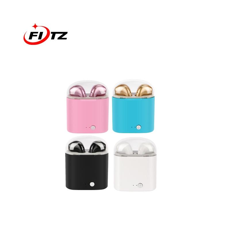 Mini Twins Headphones Bluetooth Earphone Stereo Sport Headset in Ear Buds Wireless Earphones Earpiece For iPhone Samsung withbox