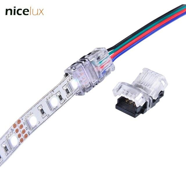 5 Stucke Rgb Led Streifen Stecker 4 Pin 5050 10mm Bunte Led Rgb Band