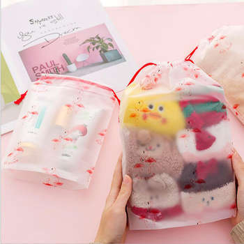 Portable  Waterproof Drawstring Bag Wash Pouch Cartoon Travel  Bags Clothes Storage Shoe Organizer Cosmetic Pocket pouch