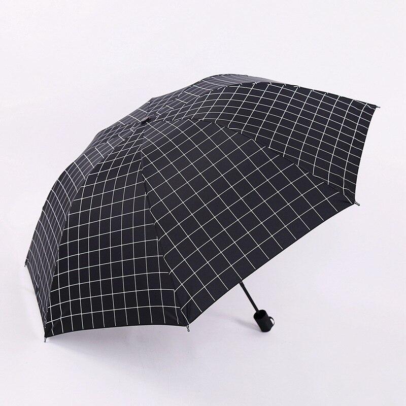 Universal Three-folding Umbrella Rain Women Fashion 8 Ribs Parasol Gift Umbrella Sunshade Anti-UV Sunny and Rainy Umbrella