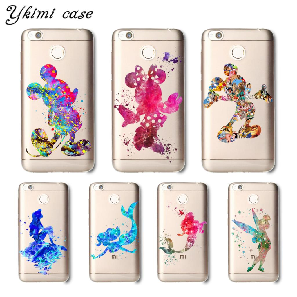 Ykimi case Cartoon minnie Mickey Cover For Xiaomi Redmi 5 plus 5a 6 pro 6a 4x 4a note 4 4x 5 pro 5a 6 case soft Silicone TPU
