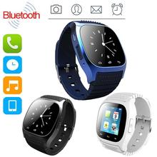 Mode Smartwatch Wasserdichte 2016 M26 Reloj Inteligente Bluetooth LED Alitmeter Smart Uhr Für Apple IOS Android Smartphone