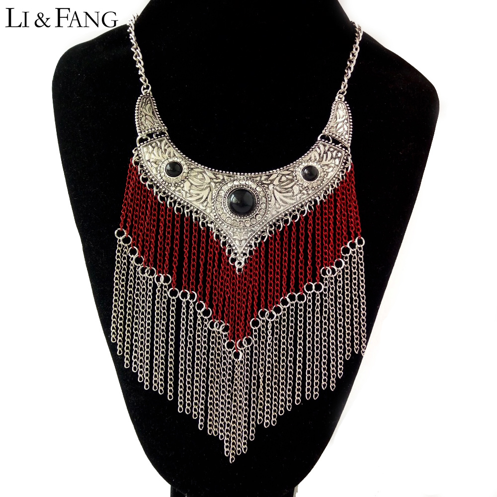 Li & Fang Fashion Maxi Statement Necklace Pendant Ws