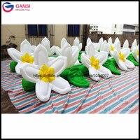 Свадебные вечерние красивые надувные цепи цветок, 7 м длительный этап украшения надувной цветок со светодиодной подсветкой