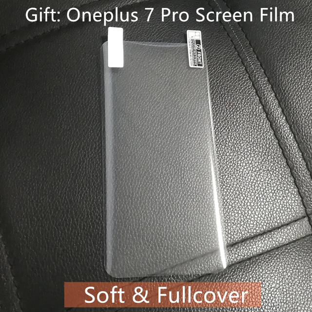 Oneplus 7 Pro Case Original 100% from Oneplus Official Protective Cover Nylon bumper Sandstone Case one plus 7 Oneplus 6T