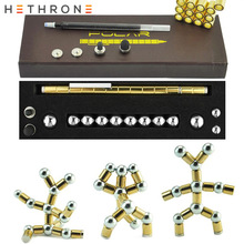 Buy Hethrone Gold Luxury magnetic force Ballpoint Pen Optional Minimalism Superfine Touch screen Ball pen for DIY writing supplies directly from merchant!