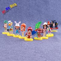 Anime One Piece Luffy Chopper Roronoa Zoro Nami Pvc Action Figure Brinquedos Figuras Anime Collectible Kids Toys 9pcs/lot