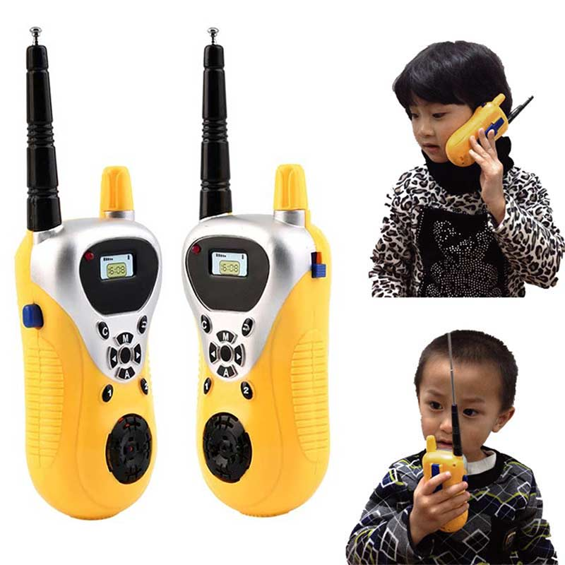 2pcs Intercom Electronic Walkie Talkie Kids Child Mni Toys Portable Two-Way Radio 72 S7JN