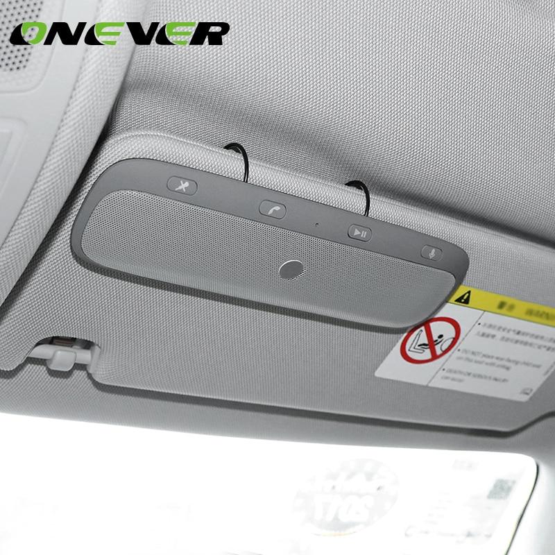 Onever Bluetooth Car Kit Car Bluetooth Handsfree Speakerphone Sunvisor In-Car Speaker Player Wireless Support Private Talk