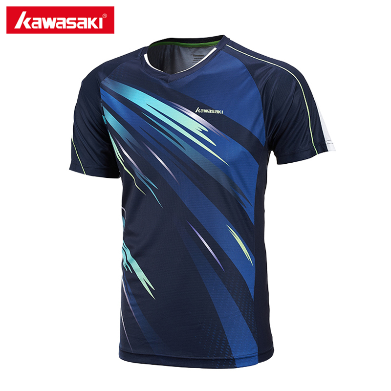 Kawasaki ST-171004 Summer Men Sporting Shirts Badminton Shirts Super Light Fabric Short-sleeved For Male Outdoor Sporting Shirts ...