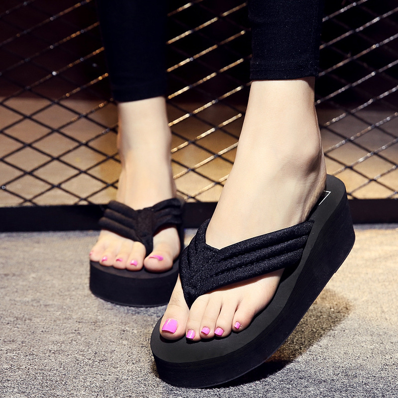 Summer Casual Style Women Platform Shoes Slippers 2018 Fashion Female Footwear Leisure Ladies Beach Flip Flops CLD949
