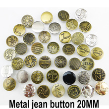 30PCS 20MM MIXED metal jeans button sewing clothes accessories star for tourers JMB-023
